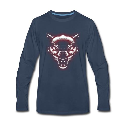 Angry Wolf - Men's Premium Long Sleeve T-Shirt