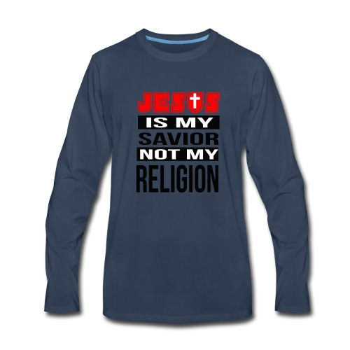 Jesus Is My Savior - Men's Premium Long Sleeve T-Shirt