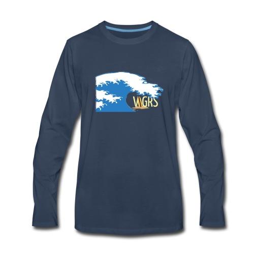 surfboard logo - Men's Premium Long Sleeve T-Shirt