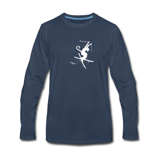 ski monkey funny - Men's Premium Long Sleeve T-Shirt