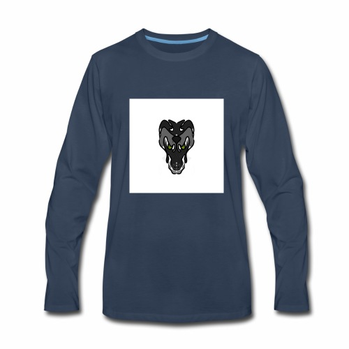 Faded dragon - Men's Premium Long Sleeve T-Shirt