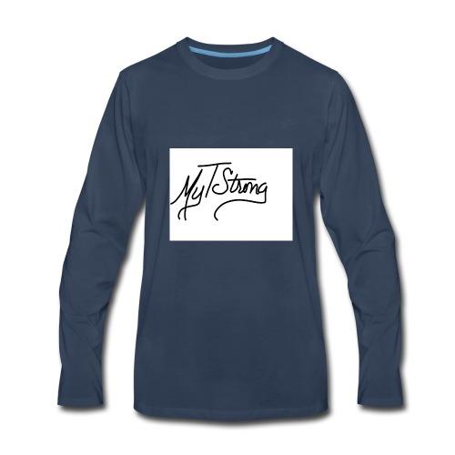 MyTStrong_Script - Men's Premium Long Sleeve T-Shirt