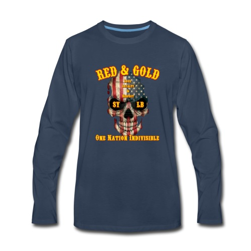 Red and Gold Indivisible tee - Men's Premium Long Sleeve T-Shirt