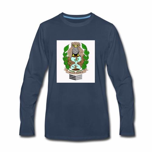 owl hourglass - Men's Premium Long Sleeve T-Shirt