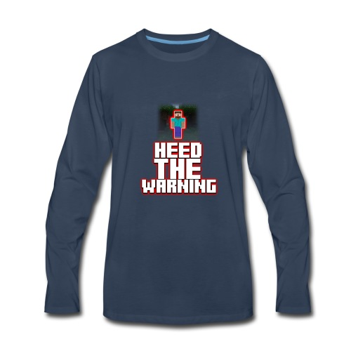 Heed The Warning #HerobrineMovie - Men's Premium Long Sleeve T-Shirt