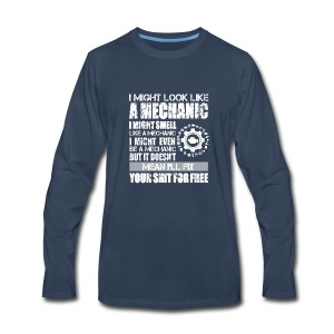 auto mechanic - Men's Premium Long Sleeve T-Shirt
