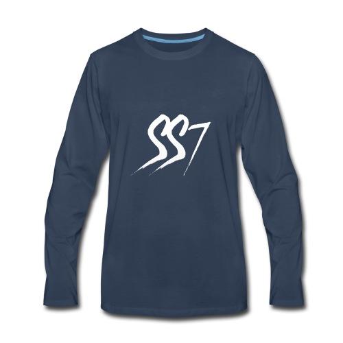 SS7 White logo - Men's Premium Long Sleeve T-Shirt