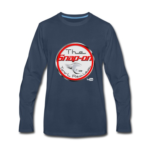 red logo white youtube - Men's Premium Long Sleeve T-Shirt