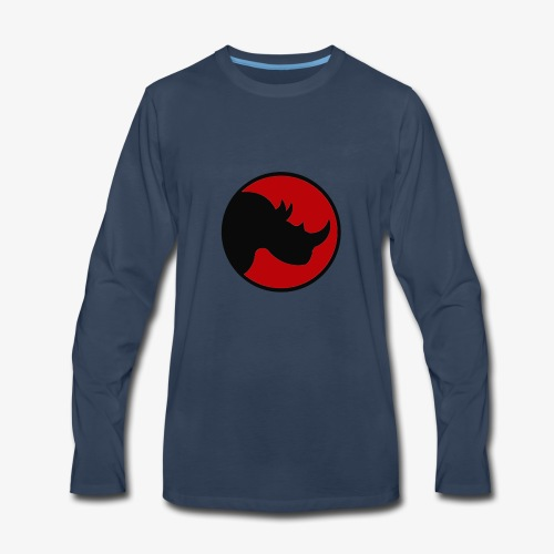 rhino logo - Men's Premium Long Sleeve T-Shirt