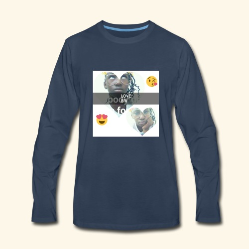 The i don't care look. - Men's Premium Long Sleeve T-Shirt