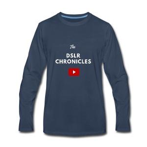 The DSLR Chronicles Tee (white letters) - Men's Premium Long Sleeve T-Shirt
