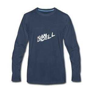 Adam Ladell Logo White - Men's Premium Long Sleeve T-Shirt