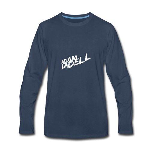 Adam Ladell Logo White - Men's Premium Long Sleeve T-Shirt