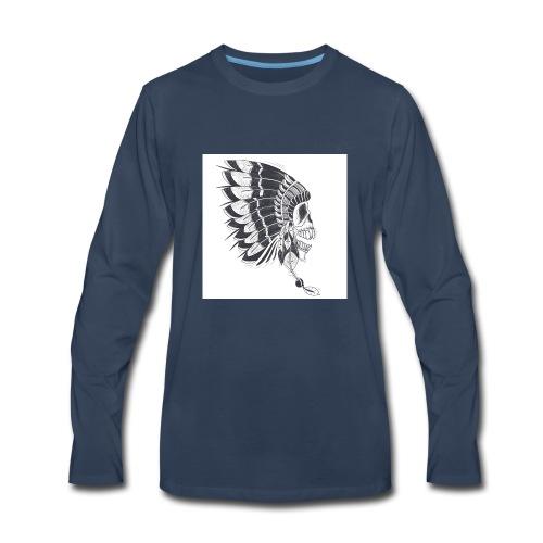skull mascot - Men's Premium Long Sleeve T-Shirt