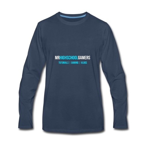 Logo and Sub-heading - Men's Premium Long Sleeve T-Shirt
