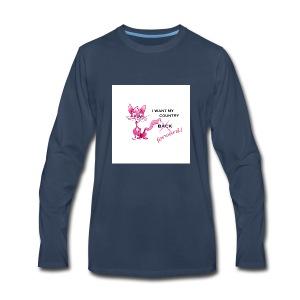 pink pussy forward tee - Men's Premium Long Sleeve T-Shirt