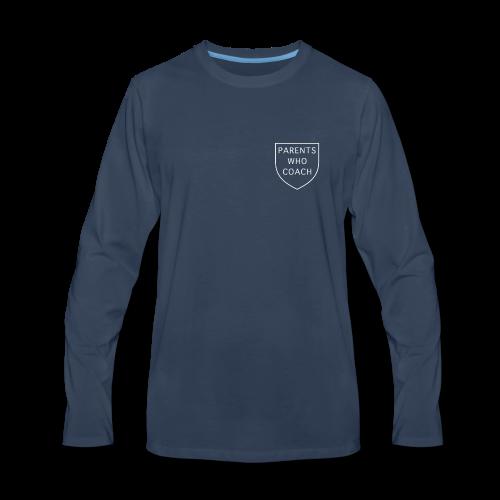 Parents Who Coach crest on chest - Men's Premium Long Sleeve T-Shirt