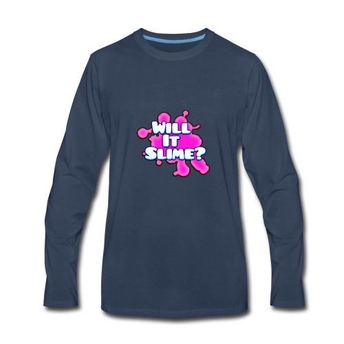 Pink Will It Slime Logo - Men's Premium Long Sleeve T-Shirt