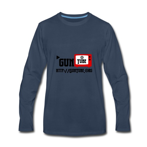 GunTube Shirt with URL - Men's Premium Long Sleeve T-Shirt
