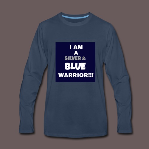 Silver Blue warrior - Men's Premium Long Sleeve T-Shirt