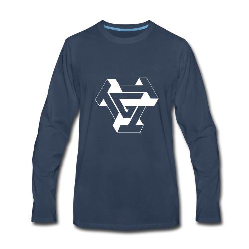 TTTG LOGO whiteoutline - Men's Premium Long Sleeve T-Shirt