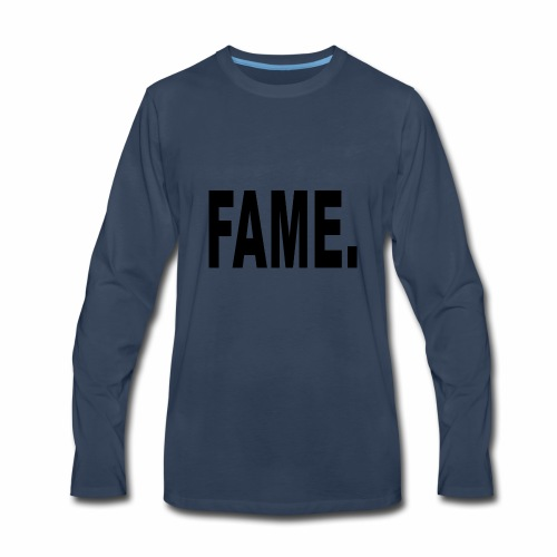 Fame Schwarz - Men's Premium Long Sleeve T-Shirt