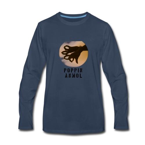 Logo with name - Men's Premium Long Sleeve T-Shirt