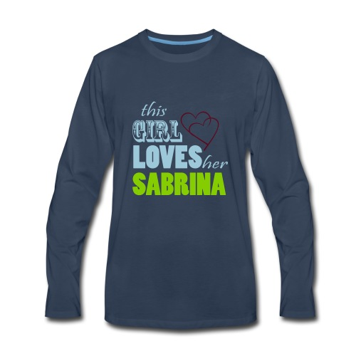 THIS GIRL LOVE HER SABRINA Special - Men's Premium Long Sleeve T-Shirt