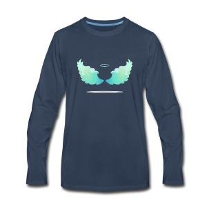 Angel wings with nimbus - Men's Premium Long Sleeve T-Shirt