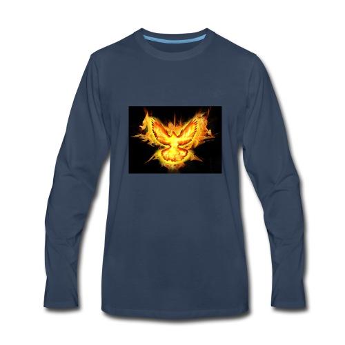 fire blaze cup - Men's Premium Long Sleeve T-Shirt