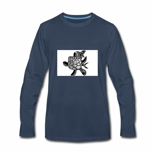turtle and shark - Men's Premium Long Sleeve T-Shirt