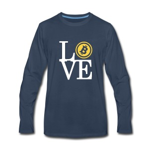 love B - Men's Premium Long Sleeve T-Shirt