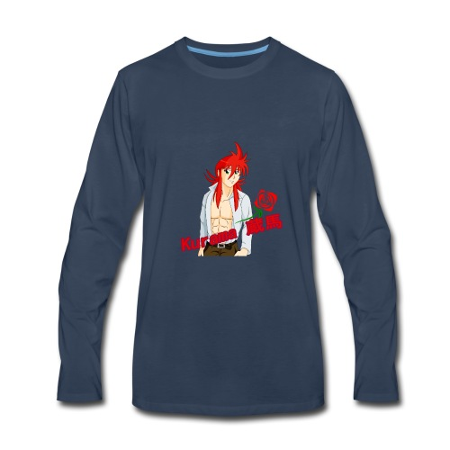 Kurama Sexy Pose Shirt Design #1 - Men's Premium Long Sleeve T-Shirt