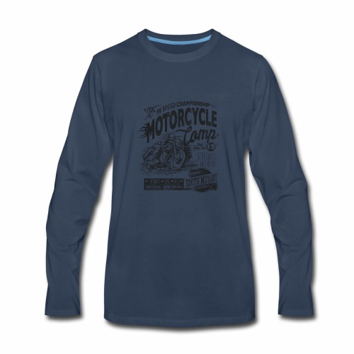 Motorcycle Camp - Men's Premium Long Sleeve T-Shirt