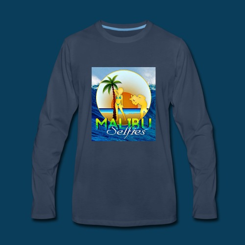 Malibu Selfies - Men's Premium Long Sleeve T-Shirt