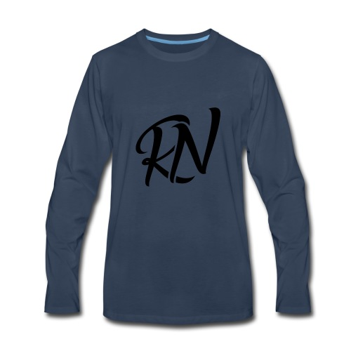 RomanNation Black (RN) - Men's Premium Long Sleeve T-Shirt