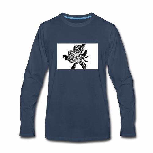 turtle and shark - Men's Premium Long Sleeve T-Shirt