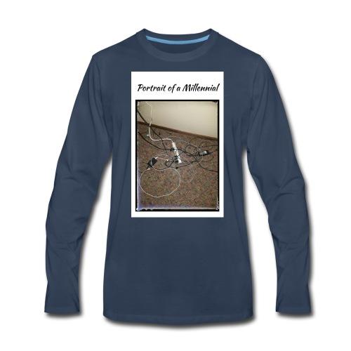 Portrait of a Millennial - Men's Premium Long Sleeve T-Shirt