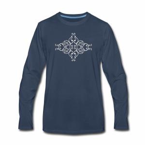 damask ornament no. 01 - white marble texture - Men's Premium Long Sleeve T-Shirt