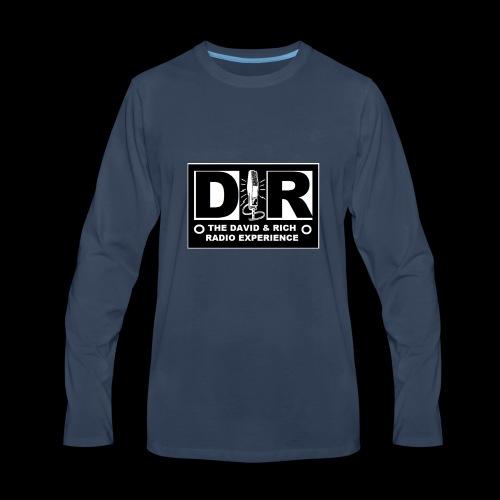 DAVERICHLOGOBLACK1 - Men's Premium Long Sleeve T-Shirt