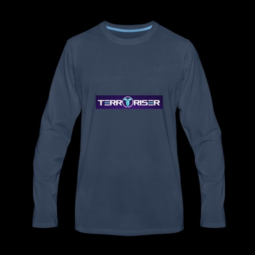 terroriser purple logo twitch 2 - Men's Premium Long Sleeve T-Shirt