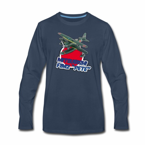 Imperial Japanese Navy F1M2 PETE seaplane - Men's Premium Long Sleeve T-Shirt