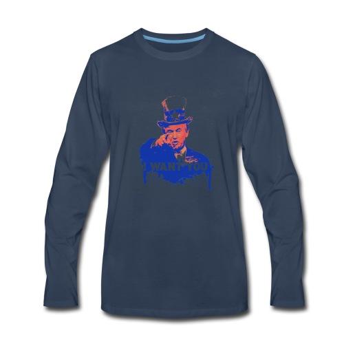 Donald Trump as Uncle Sam - Men's Premium Long Sleeve T-Shirt
