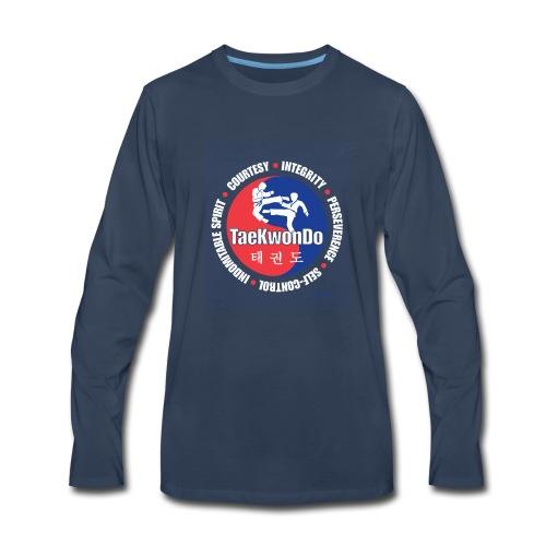 Taekwondo Tenets Graphic - Men's Premium Long Sleeve T-Shirt