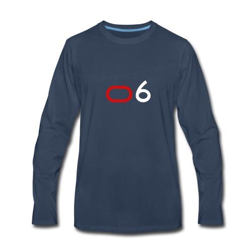Original 6 Logo (White) - Men's Premium Long Sleeve T-Shirt