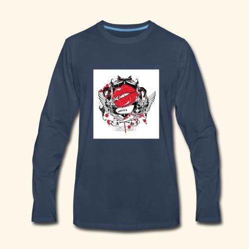 kiss t shirt - Men's Premium Long Sleeve T-Shirt