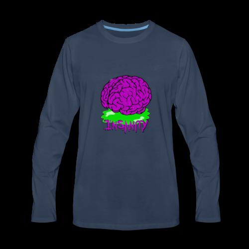 Insanity Servers Logo - Men's Premium Long Sleeve T-Shirt