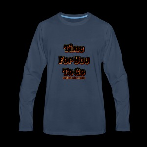 Time 4U 2 Go - Black Series - Men's Premium Long Sleeve T-Shirt