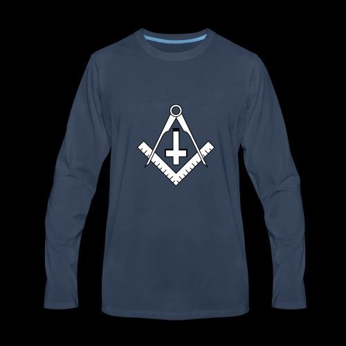 FreemasonCrossBlack - Men's Premium Long Sleeve T-Shirt