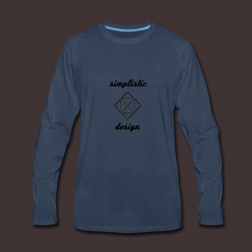 Simplistic Design Logo With Text - Men's Premium Long Sleeve T-Shirt